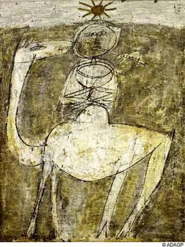 It flute on the bump - Jean Dubuffet