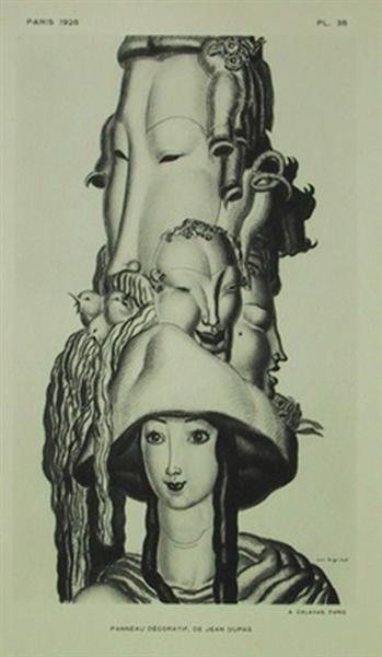 Panneau Decoratif, 1928 - Jean Dupas