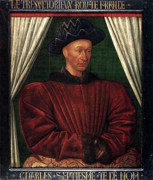Portrait of Charles VII, King of France - Jean Fouquet