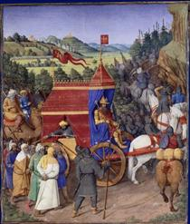 Triumph of Jehoshaphat over Adad of Assyria - Jean Fouquet