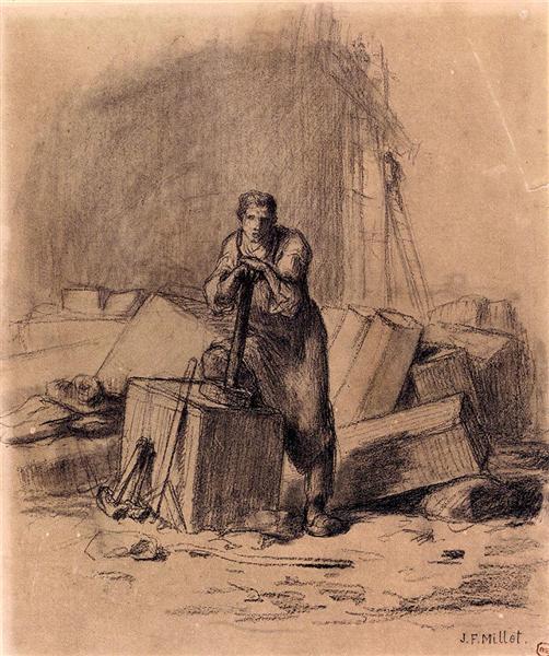 A stonemason - Jean-François Millet
