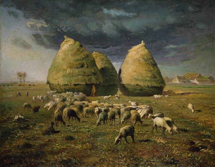 Haystacks Autumn, 1873 - Jean-Francois Millet