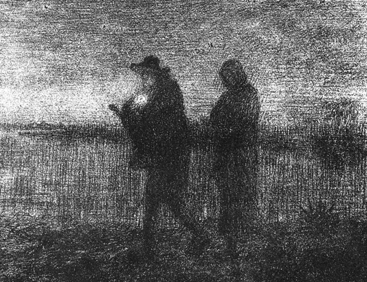 The flight into Egypt - Jean-Francois Millet