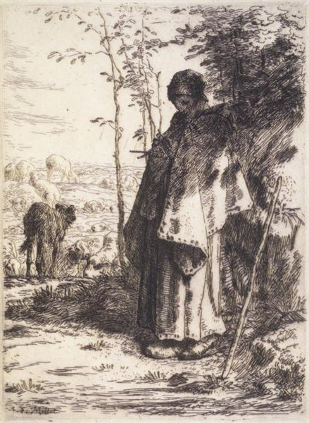 The Large Shepherdess, c.1862 - Jean-Francois Millet