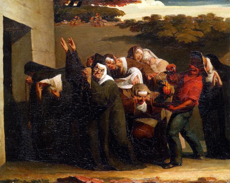 The Nun's Parrot, 1839 - 1840 - Jean-Francois Millet
