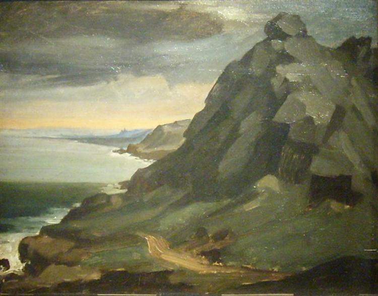 The rock of Castel Vendon, 1848 - Jean-Francois Millet