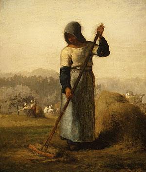 Woman with a rake, c.1856 - 1857 - Jean-Francois Millet