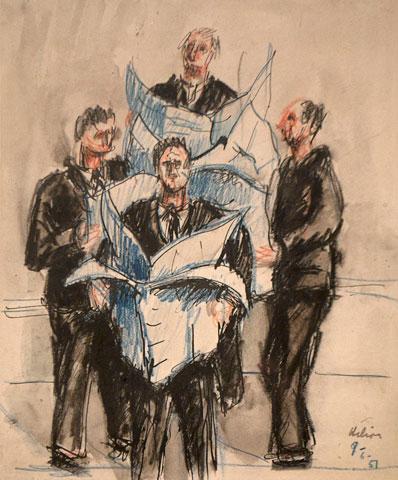Untitled, 1957 - Жан Ельйон