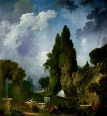 Blind man's buff - Jean-Honore Fragonard