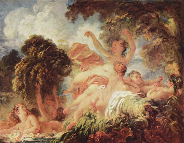 The Bathers, c.1765 - Jean-Honore Fragonard