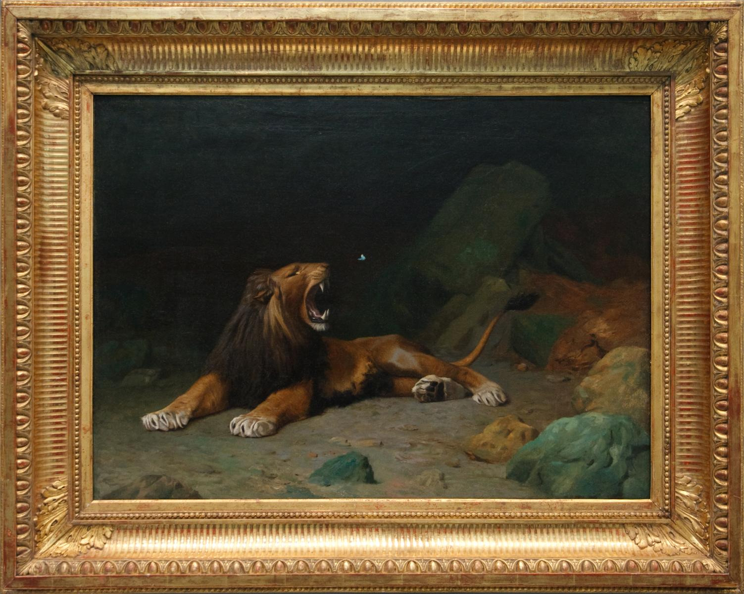 http://uploads4.wikipaintings.org/images/jean-leon-gerome/lion-snapping-at-a-butterfly.jpg!HD.jpg