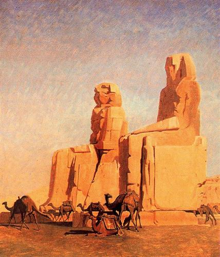 Thebes Colosseums, Memnon and Sesostris (study) - Jean-Leon Gerome