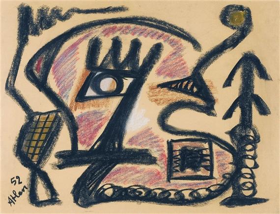 L'Oiseau de Barbarie, 1952 - Jean-Michel Atlan