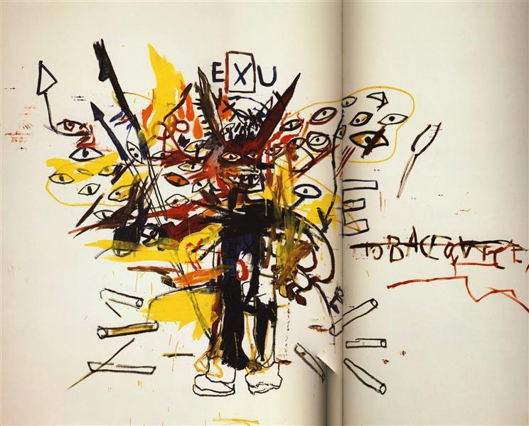 Exu, 1988 - Jean-Michel Basquiat