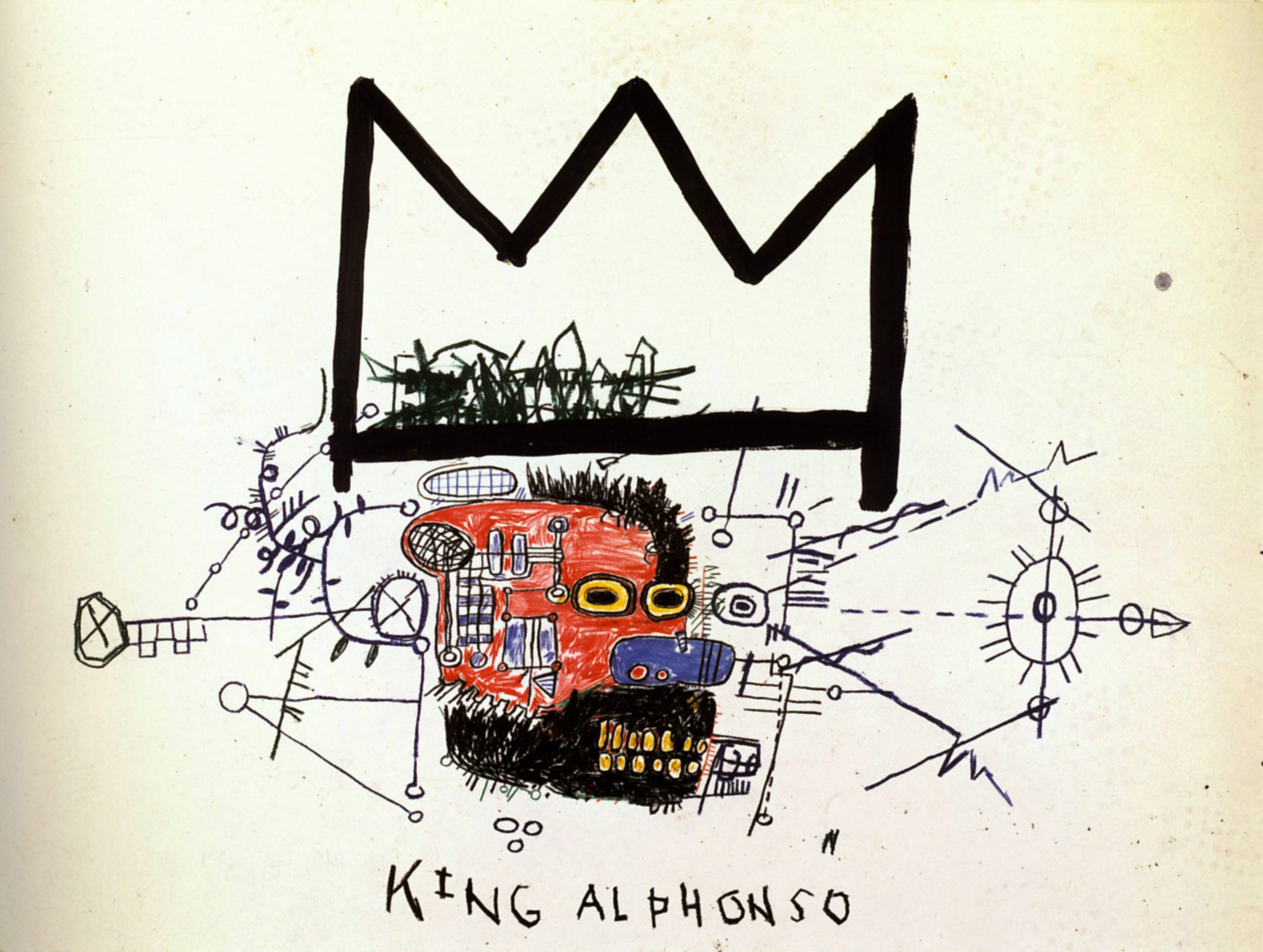 King Alphonso - Jean-Michel Basquiat - WikiPaintings.