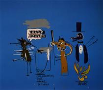 The Dingoes That Park Their Brains with their Gum - Jean-Michel Basquiat