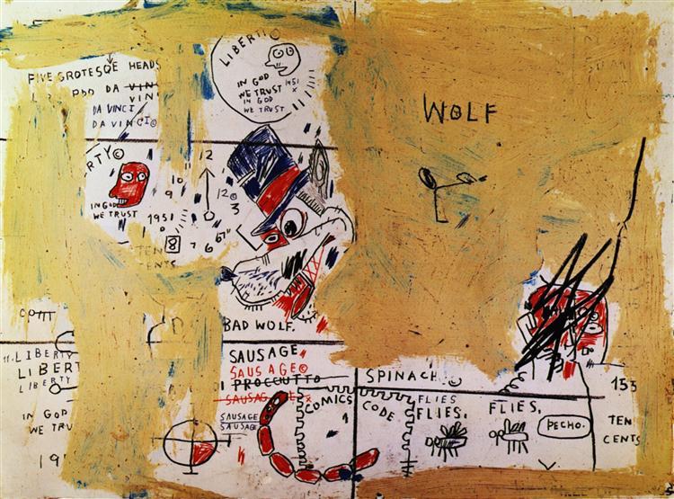 Wolf Sausage, 1983 - Jean-Michel Basquiat