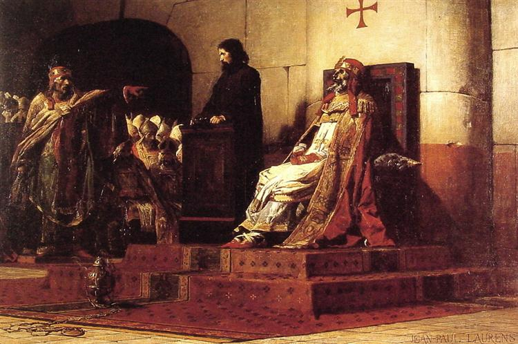 Pope Formosus and Stephen VI - The Cadaver Synod, 1870 - Jean-Paul Laurens