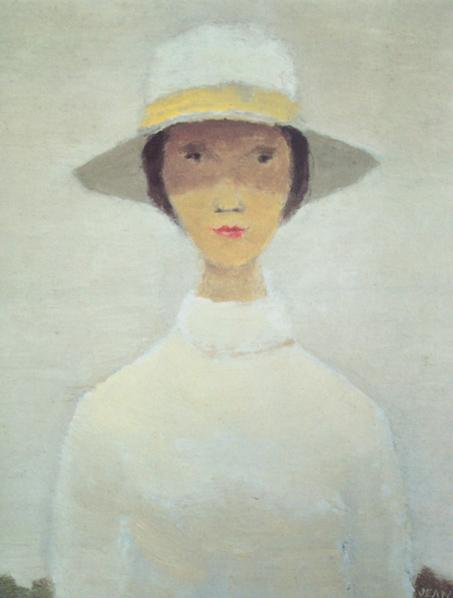 La femme au chapeau blanc - Jean Paul Lemieux