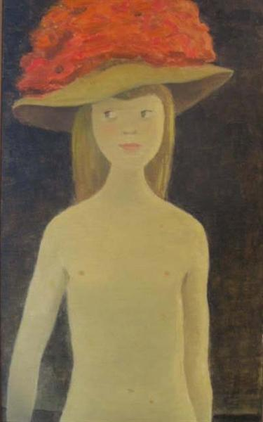 Young Lady with Hat - Jean Paul Lemieux