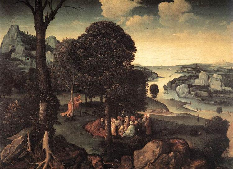 Landscape with St. John the Baptist Preaching - Joachim Patinier