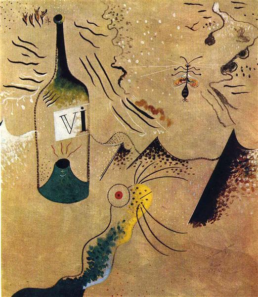 Bottle of Vine, 1924 - Joan Miro