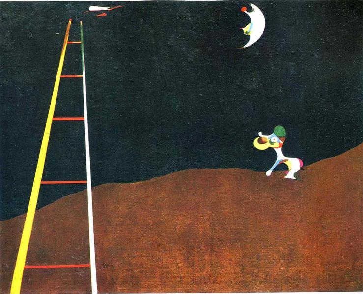 Dog Barking-at the Moon, 1926 - Joan Miro