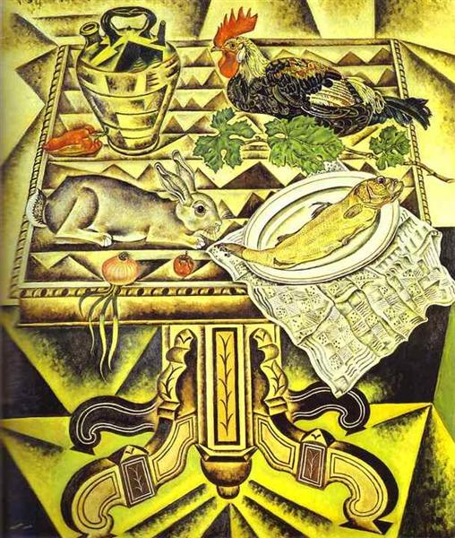 The Table (Still Life with Rabbit), 1920 - Joan Miró