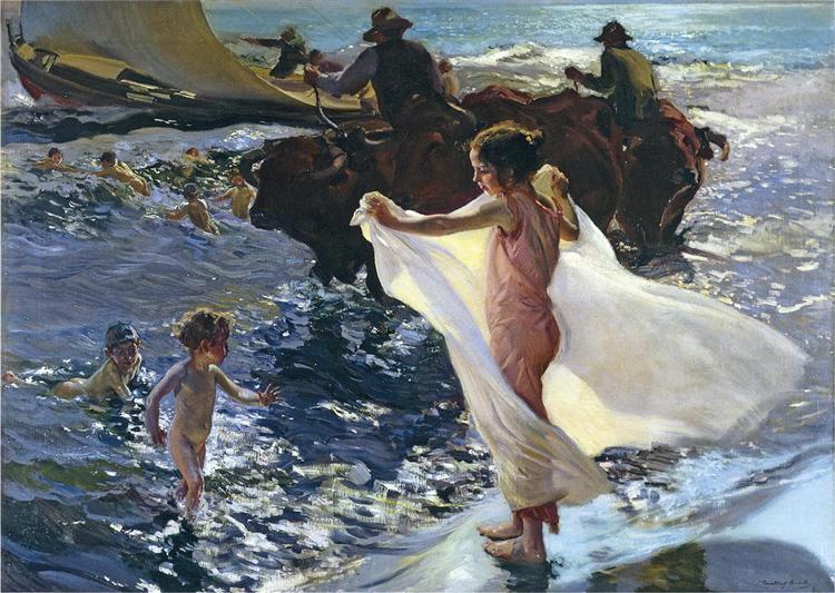 Bathing Time, 1904 - Joaquín Sorolla