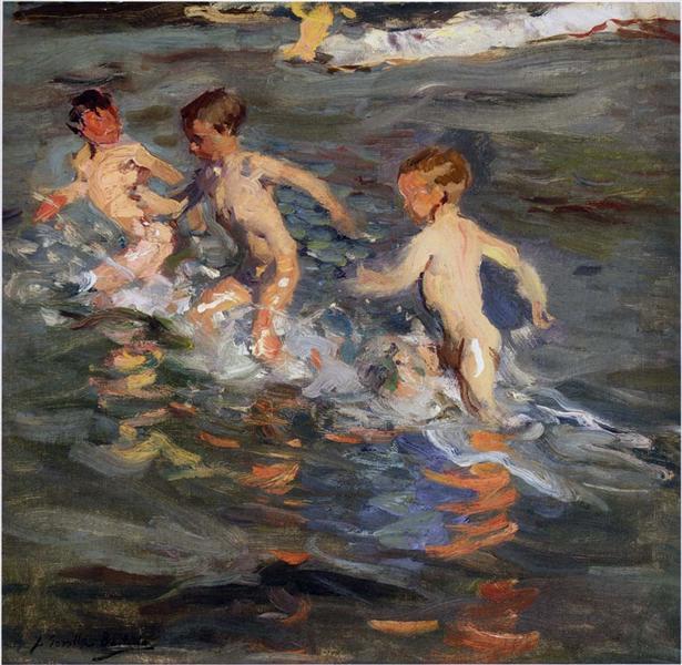 Children at the beach, 1899 - Joaquín Sorolla y Bastida