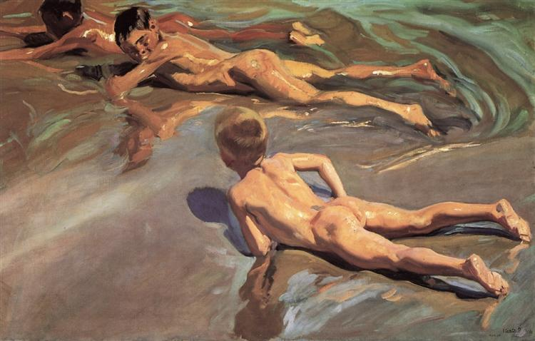 Children on the Beach, 1910 - Joaquín Sorolla