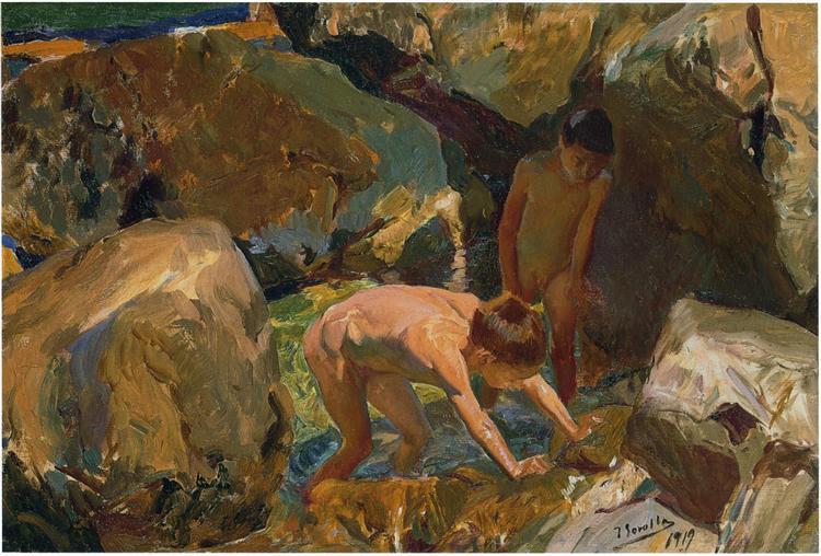 Looking for Shellfish, 1919 - Joaquín Sorolla y Bastida