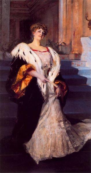 Portrait of Dona Elena Ortuzar Blasco Ibanez - Joaquín Sorolla