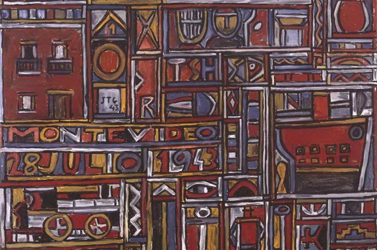 Constructive Composition, 1943 - Хоакін Торрес Гарсія