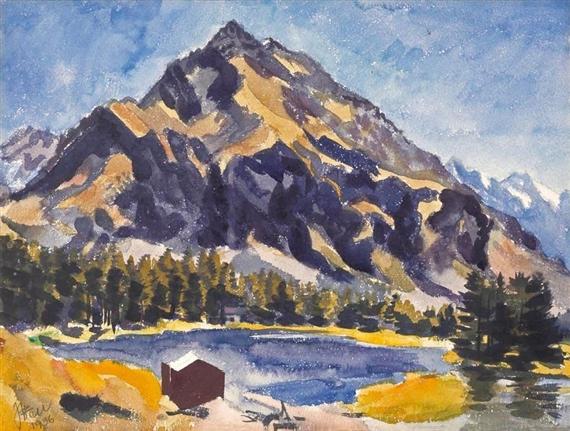 Bergsee (A Mountain Lake), 1936