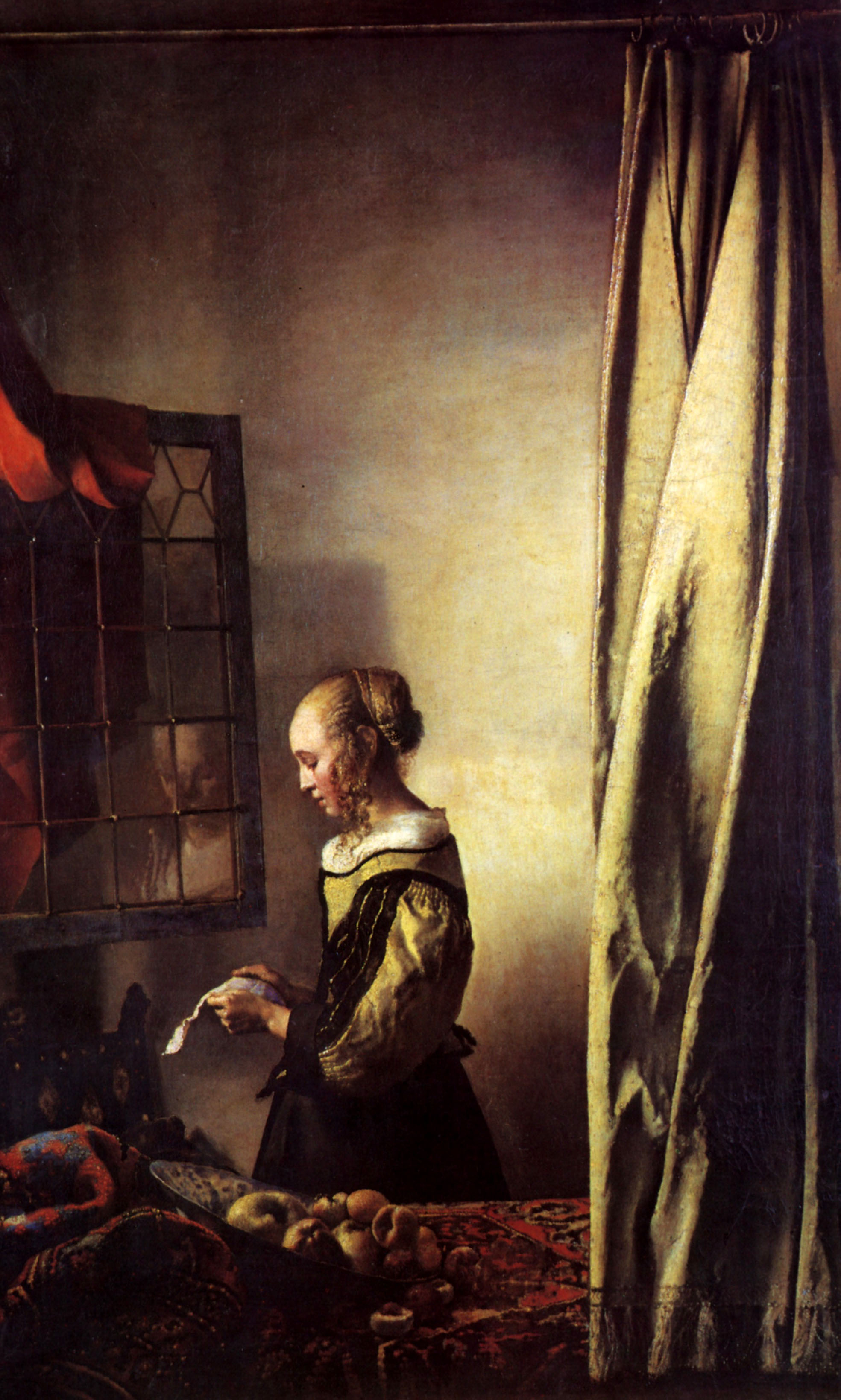 Girl Reading a Letter at an Open Window - Johannes Vermeer - WikiArt ...