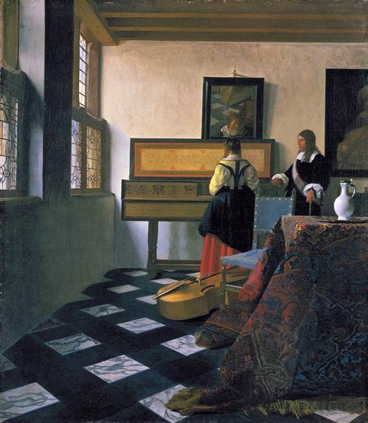 The music lesson - Vermeer Johannes