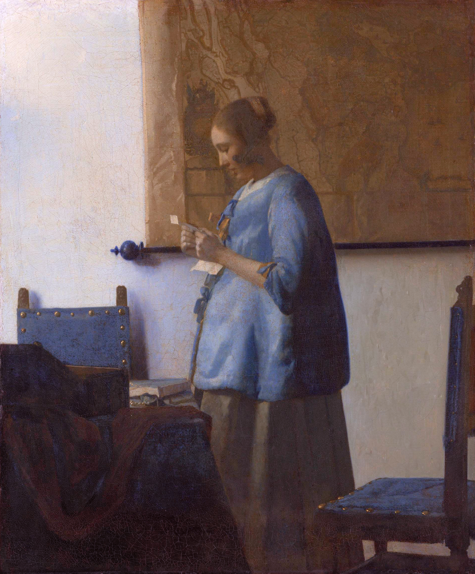 Woman in Blue Reading a Letter - Wikipedia