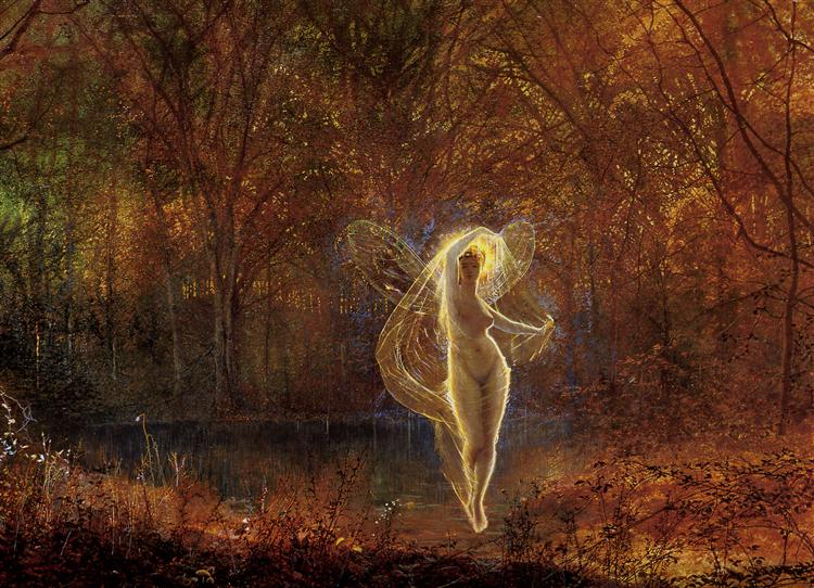 Dame Autumn has a mournful face - John Atkinson Grimshaw