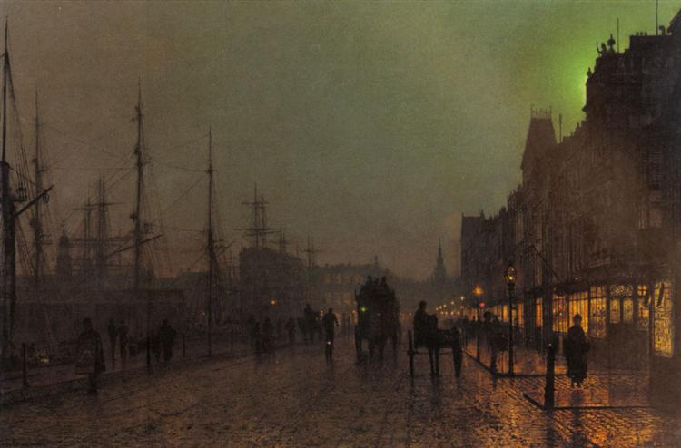 Gourock, Near The Clyde Shipping Docks - John Atkinson Grimshaw