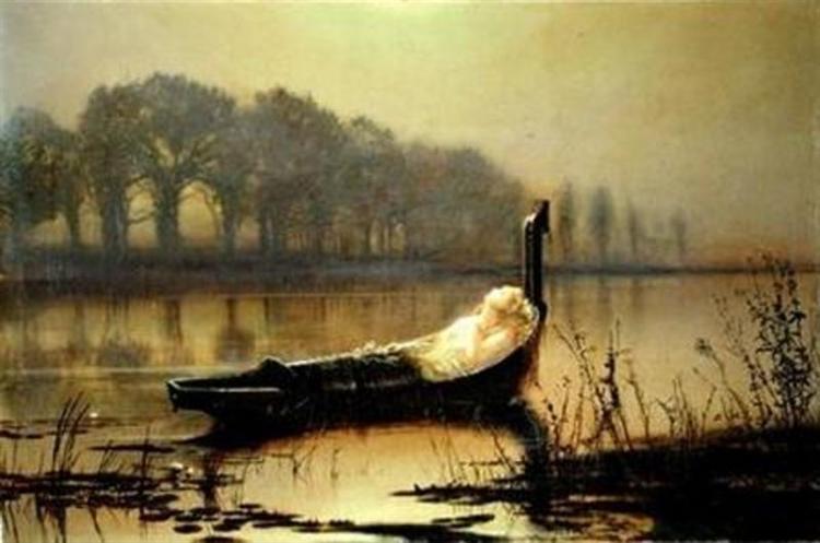 The Lady of Shalott, c.1875 - John Atkinson Grimshaw