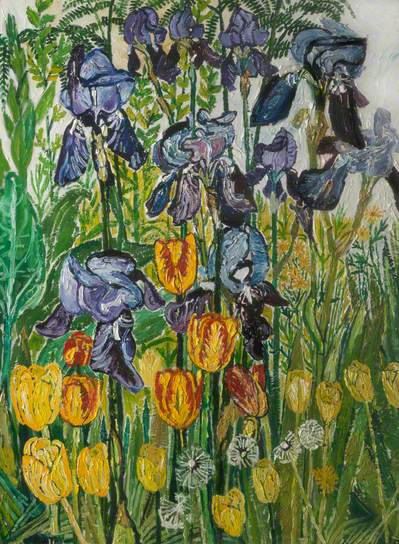 Irises and Tulips, 1967