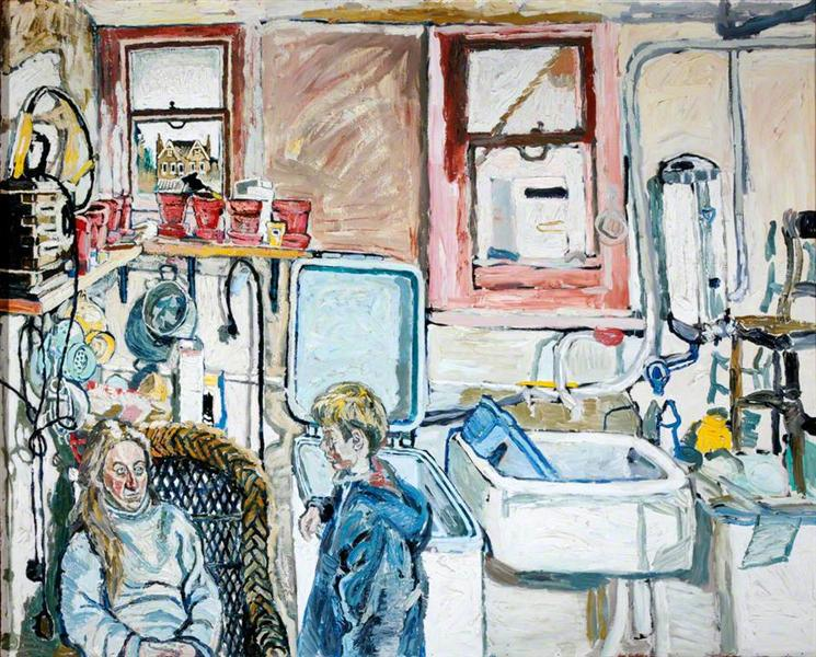 kitchen sink realism kitchen 1965 bratby wikiart org 2845