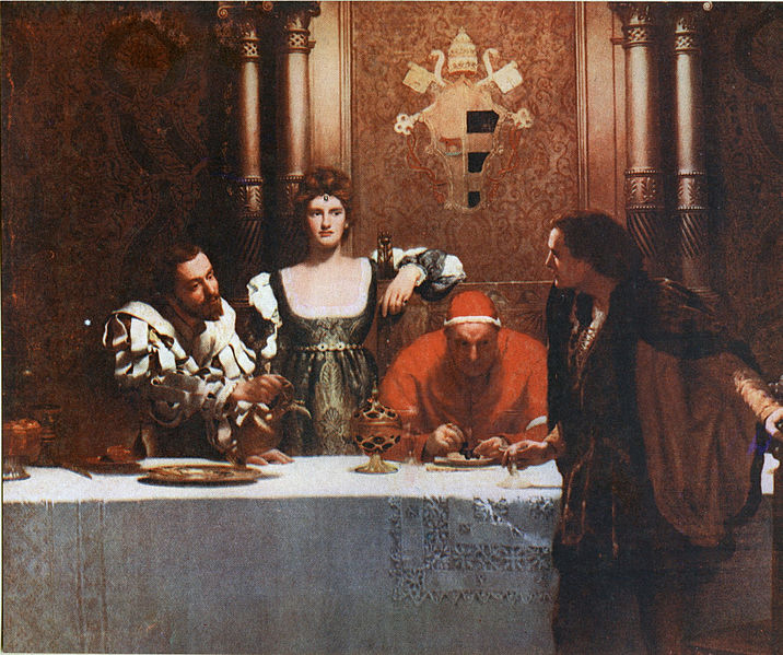 A glass of wine with Caesar Borgia, 1893 - John Collier