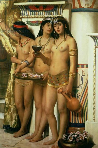 Pharaoh's Handmaidens, 1883 - Джон Кольер