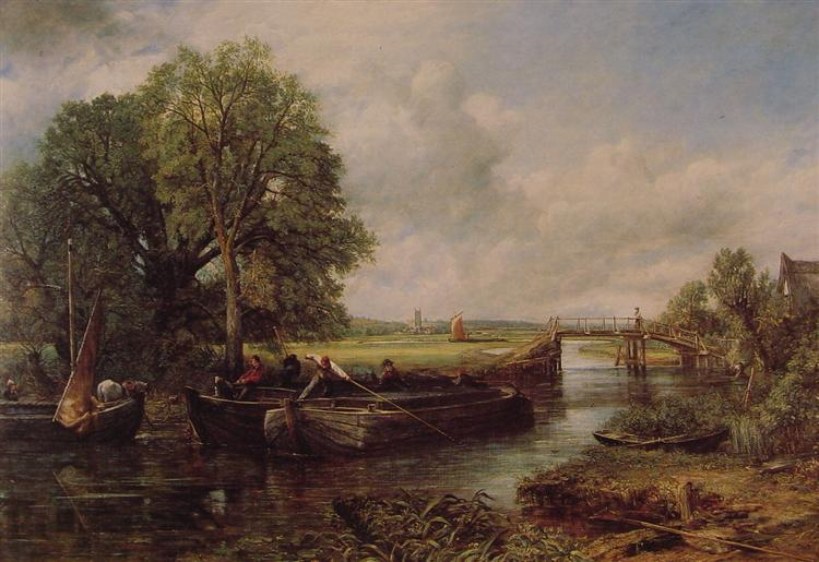 A View On The Stour Near Dedham, 1822 - John Constable