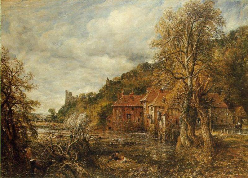 Arundel Mill And Castle 1837 John Constable Wikiart Org