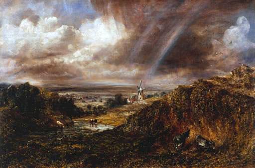 Hampstead Heath with a Rainbow, 1836 - John Constable