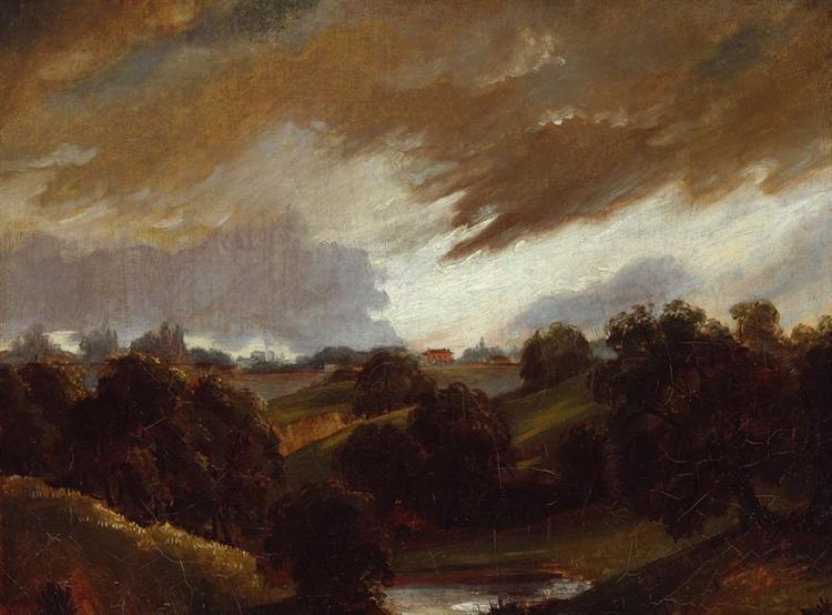 Hampstead Stormy Sky, 1814 - John Constable