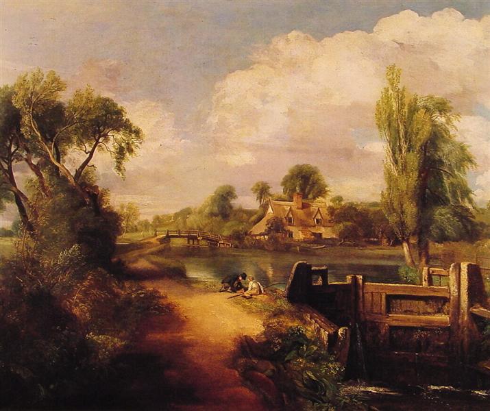 Landscape: Boys Fishing, 1813 - John Constable